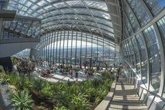 Der Himmel-Garten, 20 Fenchurch Straße, London, Großbritannien Lizenzfreies Stockfoto