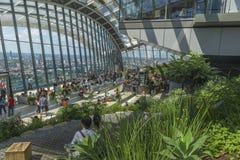 Der Himmel-Garten, 20 Fenchurch Straße, London, Großbritannien Stockfoto