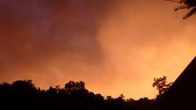 Der Himmel im Sommer Stockfotografie