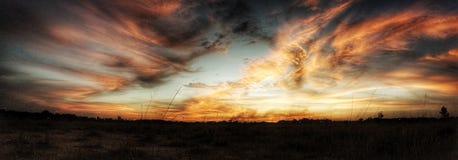 Der Himmel ist auf Feuer Lizenzfreie Stockfotos