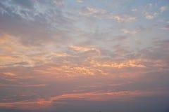 Der Himmel morgens, das Konzept des neuen Morgens oder die Idee Lizenzfreies Stockbild