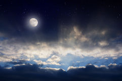 Der Himmel und der Raum Stockfoto