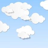 Der Himmel und die Wolken lizenzfreie abbildung