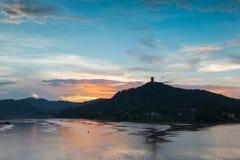 Der Himmelsonnenuntergang Lizenzfreie Stockfotos
