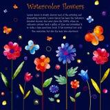 Der Hintergrund der Aquarellblume Stockfotos