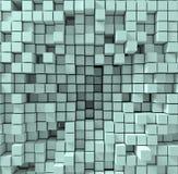 Der Hintergrund, der aus chaotisch zusammengedrückten Würfeln besteht, 3d übertragen, Illustration 3d Lizenzfreie Stockfotografie