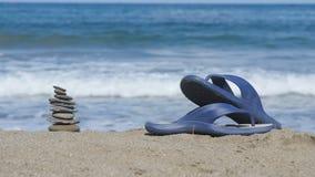 Der Hintergrund des Meeres und des Strandes stock video footage