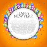 Der Hintergrund des neuen Jahres mit Feuerwerksraketen Stockfotos