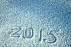 Der hintergrund des neuen Jahres und Weihnachtsvom Schnee Stockfotografie