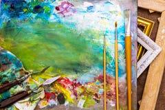 Der Hintergrund für die Malerei stockfotos
