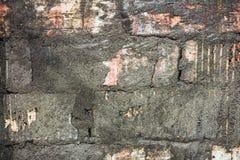 Der Hintergrund ist eine Backsteinmauer und ein alter Gips Lizenzfreie Stockbilder