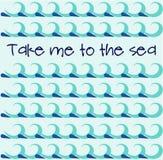 Der Hintergrund mit blauen Wellen Auch im corel abgehobenen Betrag Lizenzfreies Stockbild