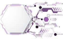 Der Hintergrund stellt dar, dass der abstrakte Begriff der Innovation und der Technologie an Ihrem Geschäft angewendet werden kan Lizenzfreie Stockfotografie