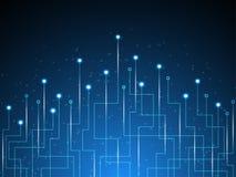 Der Hintergrund stellt dar, dass der abstrakte Begriff der Innovation und der Technologie an Ihrem Geschäft angewendet werden kan Lizenzfreie Stockbilder