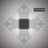 Der Hintergrund stellt dar, dass der abstrakte Begriff der Innovation und der Technologie an Ihrem Geschäft angewendet werden kan Lizenzfreies Stockfoto
