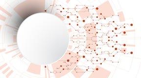 Der Hintergrund stellt dar, dass der abstrakte Begriff der Innovation und der Technologie an Ihrem Geschäft angewendet werden kan Lizenzfreie Stockfotos