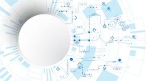 Der Hintergrund stellt dar, dass der abstrakte Begriff der Innovation und der Technologie an Ihrem Geschäft angewendet werden kan Stockbilder