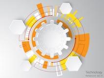 Der Hintergrund stellt dar, dass der abstrakte Begriff der Innovation und der Technologie an Ihrem Geschäft angewendet werden kan Lizenzfreies Stockbild