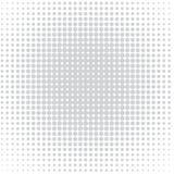 Der Hintergrund von grauen Punkten von den verschiedenen Größen, die unterschiedliche Dichte auf Weiß haben lizenzfreie abbildung