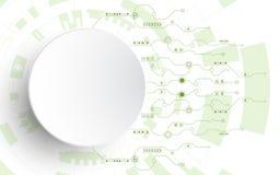 Der Hintergrund zeigt den abstrakten Begriff der Innovation und der Technologie Lizenzfreies Stockfoto