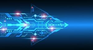 Der Hintergrund zeigt den abstrakten Begriff der Innovation und der Technologie Stockfotos