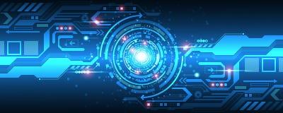 Der Hintergrund zeigt den abstrakten Begriff der Innovation und der Technologie Lizenzfreies Stockbild