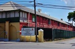 Der historische Bereich St. Ann Garrison in Barbados Stockbild