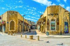 Der historische Bezirk von Tel Aviv Stockfotografie