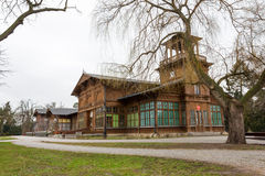 Der historische Pumpenraum in Ciechocinek, Polen Lizenzfreies Stockbild