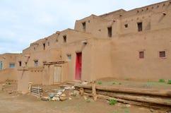 Der historische Taos-Pueblo Stockfoto