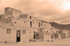 Der historische Taos-Pueblo Lizenzfreie Stockfotos