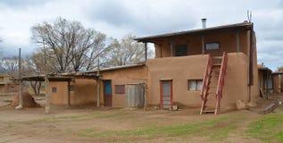 Der historische Taos-Pueblo Lizenzfreies Stockbild