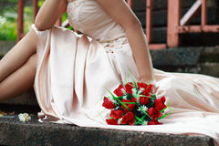 Der Hochzeits-Blumen-Blumenstrauß Lizenzfreie Stockfotos