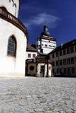 Der Hof des Schlosses Lizenzfreie Stockfotos