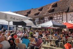 Der Hof des Wasserschlosses Glatt Lizenzfreies Stockfoto