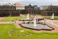 Der Hof von Zwinger in Dresden, Deutschland Stockbild