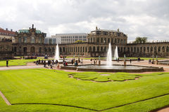 Der Hof von Zwinger in Dresden, Deutschland stockfotos