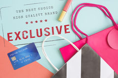 Der hohen Qualität Garantie-ursprüngliches Konzept des Marken-Exklusiv-100% Stockbild