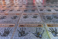 Der Hollywood Rockwalk lizenzfreie stockbilder