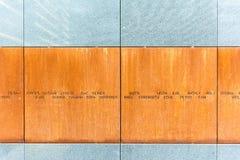 Der Holocaust-Denkmal-Raum Stockbild