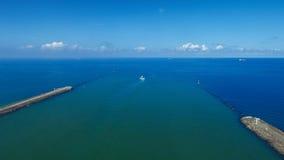 Der Horizont in dem Meer Stockfoto