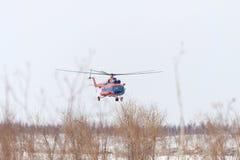 Der Hubschrauber stockfotografie
