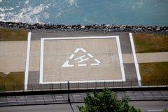 Der Hubschrauber-Landeplatz lizenzfreies stockbild