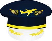 Der Hut des Pilot mit Flugzeug vektor abbildung