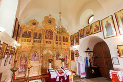 Der Iconostasis der orthodoxen Kirche Ukraine Lizenzfreie Stockfotografie