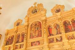 Der Iconostasis der orthodoxen Kirche Ukraine Stockbilder