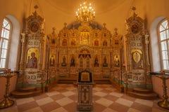 Der Iconostasis der Kirche der Auferstehung auf der Insel von Valaam, Republik von Karelien Stockbilder