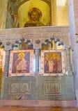 Der Iconostasis von Svetitskhoveli-Kathedrale in Mtskheta Lizenzfreie Stockbilder
