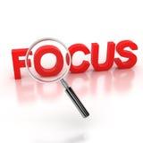 In der Ikone des Fokus 3d stockbild