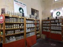 Der ikonenhafte Entenlebershop in Sarlat Lizenzfreies Stockbild